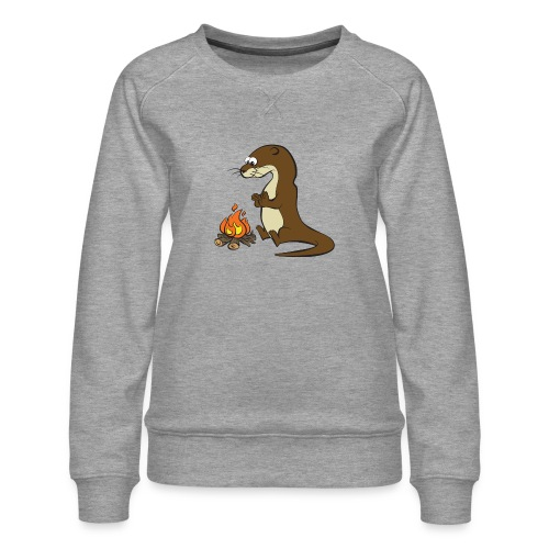 Song of the Paddle; Quentin campfire - Women's Premium Sweatshirt