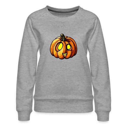 Pumpkin Halloween watercolor scribblesirii - Naisten premium-collegepaita