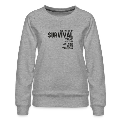 5Cs of Survival List - Premiumtröja dam