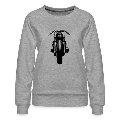 Motorcycle Front - Women's Premium Sweatshirt