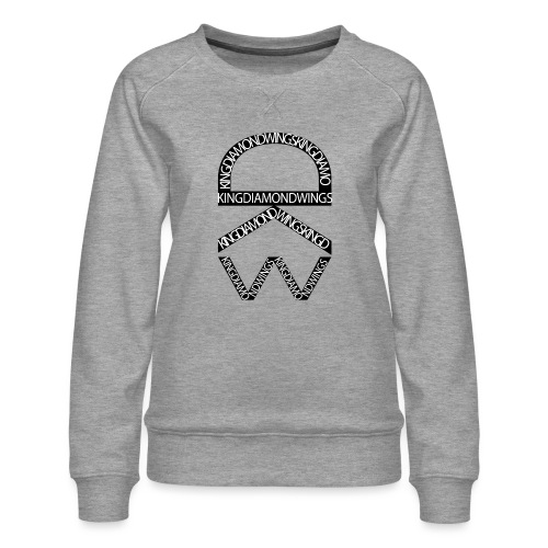 King Diamond Wings Logo - Women's Premium Sweatshirt