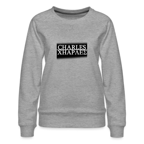 CHARLES CHARLES BLACK AND WHITE - Women's Premium Sweatshirt