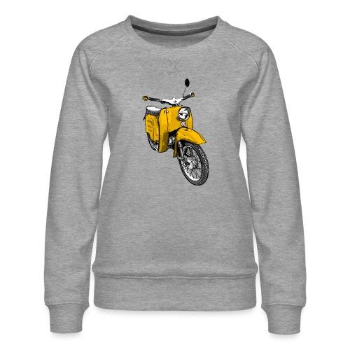 Schwalbenfahrer Shirt, gelbe Schwalbe - Frauen Premium Pullover