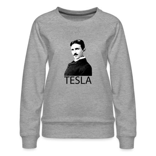 Tesla - Sweat ras-du-cou Premium Femme