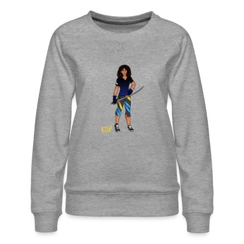 Sabre fencer - Women's Premium Sweatshirt