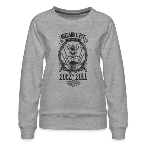 Rock'n'roll - Sweat ras-du-cou Premium Femme
