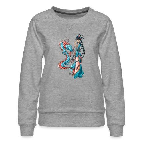 Blue Dragon - Sweat ras-du-cou Premium Femme