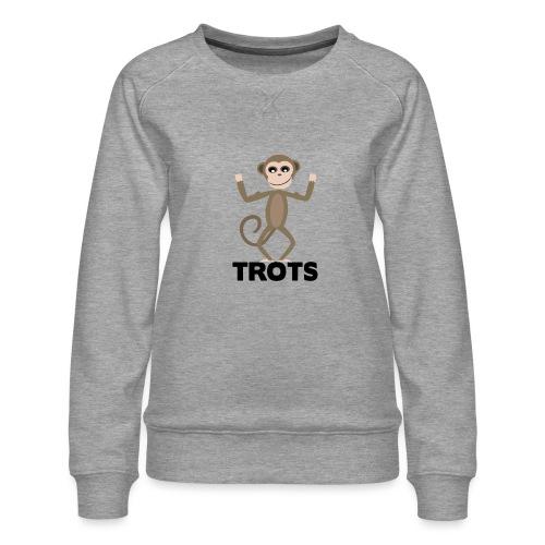 apetrots aapje wat trots is - Vrouwen premium sweater