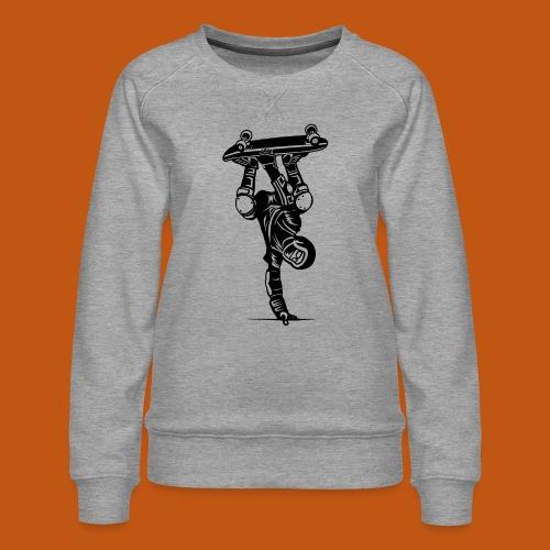 Skater / Skateboarder 02_schwarz - Frauen Premium Pullover
