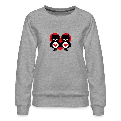verliebte Eulen - Frauen Premium Pullover