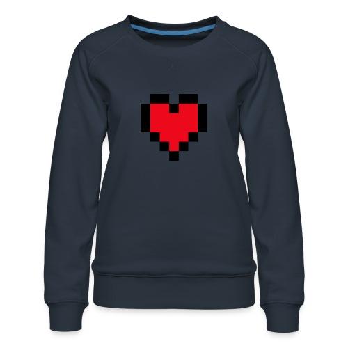 Pixel Heart - Vrouwen premium sweater