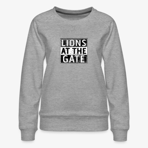 LIONS AT THE GATE BAND LOGO - Vrouwen premium sweater