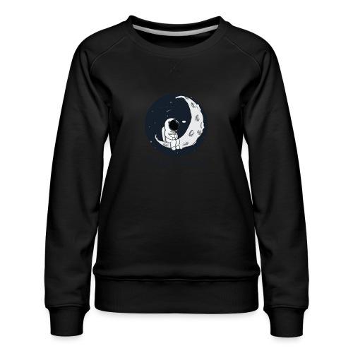 Visez la lune ! - Sweat ras-du-cou Premium Femme