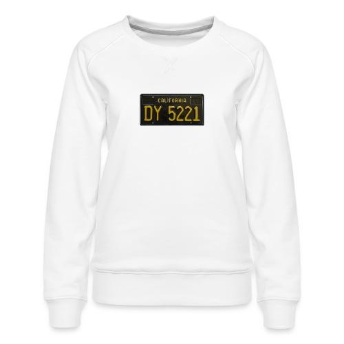 CALIFORNIA BLACK LICENCE PLATE - Women's Premium Sweatshirt