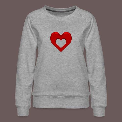 Heart Illusion - Dame premium sweatshirt