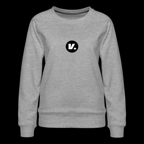 Ventura White V Logo - Vrouwen premium sweater