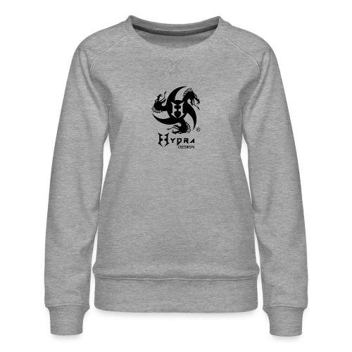 Hydra DESIGN - logo blk - Felpa premium da donna