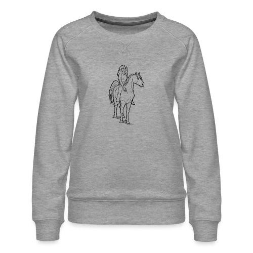 freie Reiterin - Frauen Premium Pullover