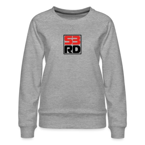 53RD Logo kompakt umrandet (schwarz-rot) - Frauen Premium Pullover
