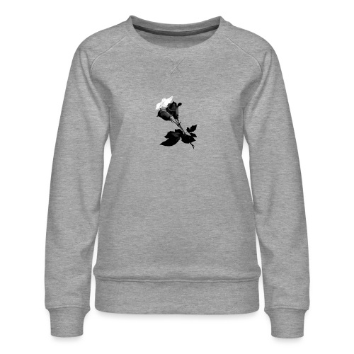Black and White Rose Bundle - Women's Premium Sweatshirt