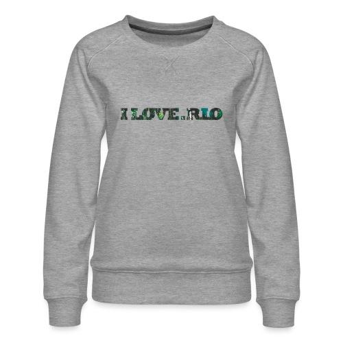 ILOVE.RIO TROPICAL N ° 3 - Women's Premium Sweatshirt