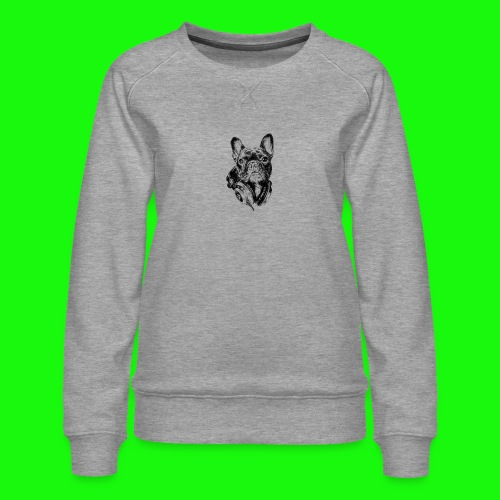 Small_Dog-_-_Bryst_- - Dame premium sweatshirt