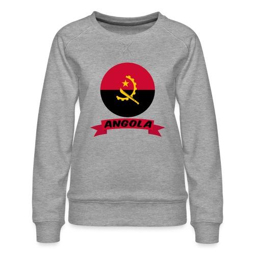 flag of Angola t shirt design ribbon banner - Felpa premium da donna