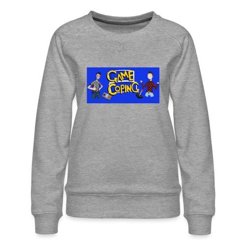 Game Coping Happy Banner - Women's Premium Sweatshirt