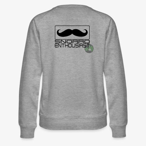 Snorro enthusiastic (black) - Women's Premium Sweatshirt