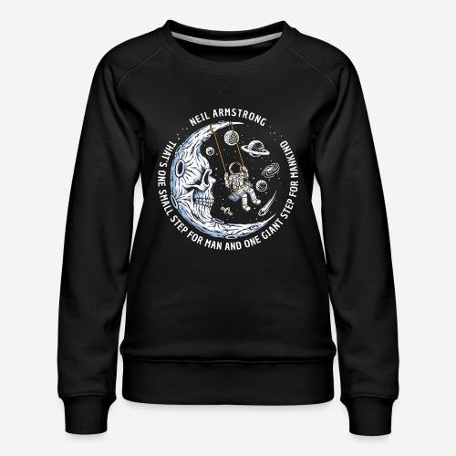 moon astronaut stars space - Frauen Premium Pullover
