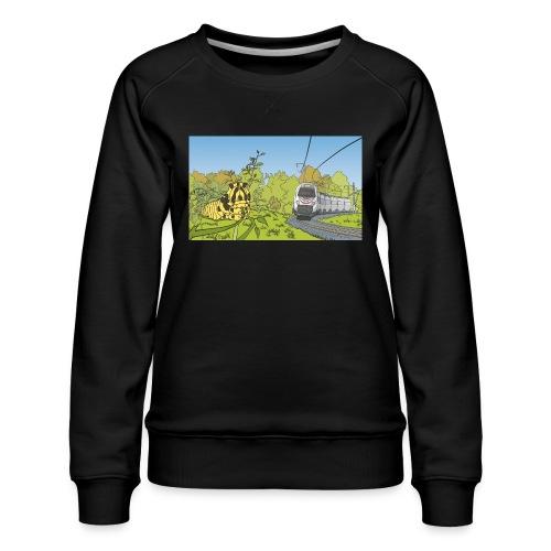 Raupe und Zug - Frauen Premium Pullover