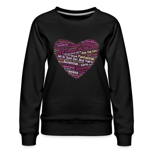 Hjerte - Dame premium sweatshirt