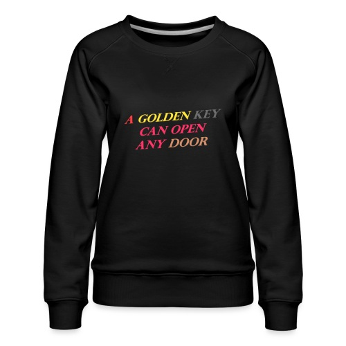 Say in English with 3D effect - Women's Premium Sweatshirt