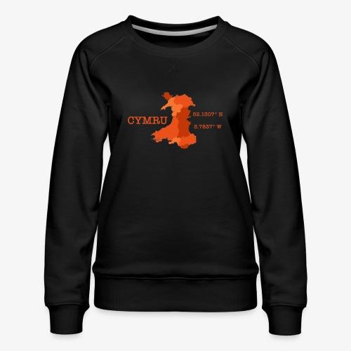 Cymru - Latitude / Longitude - Women's Premium Sweatshirt
