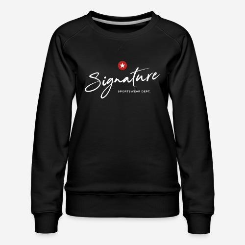 Signature Sportswear Design T-Shirt - Frauen Premium Pullover