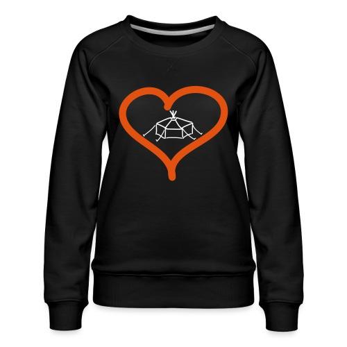Herzjurte - Frauen Premium Pullover