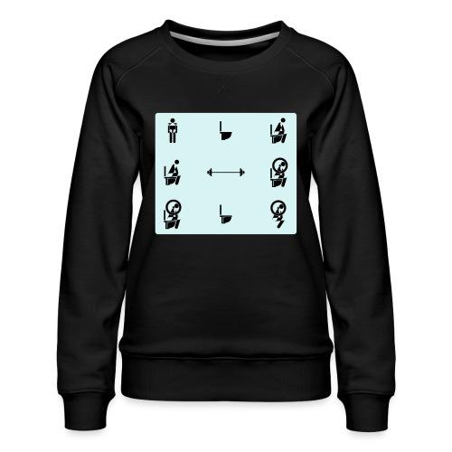 How to squat - Women's Premium Sweatshirt
