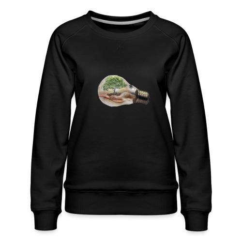 Baum und fliege in einer Glühbirne Geschenkidee - Frauen Premium Pullover