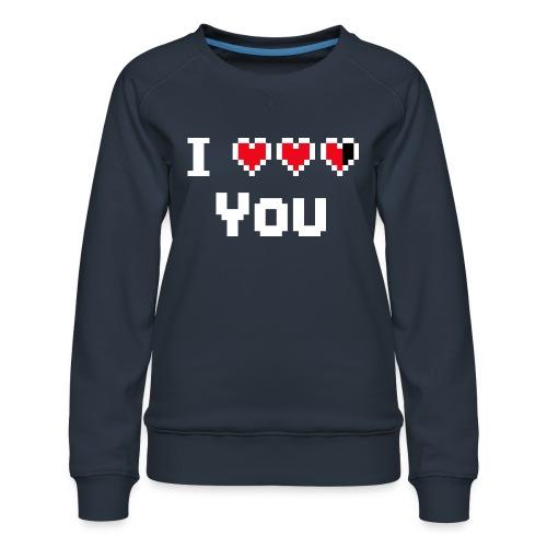 I pixelhearts you - Vrouwen premium sweater