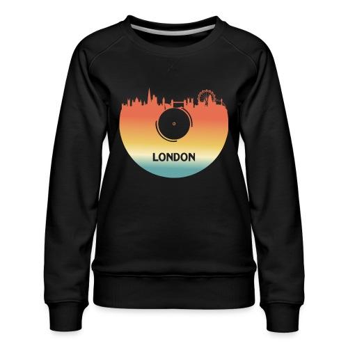 London Skyline Vinyl Schallplatte London Souvenir - Frauen Premium Pullover