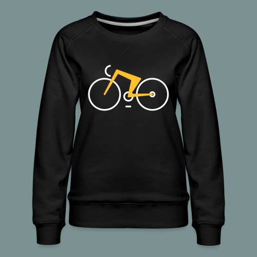 Bikes against cancer - Dame premium sweatshirt