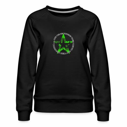 ra star slogan slime png - Frauen Premium Pullover