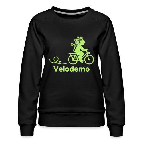 Züri-Leu mit Text - Frauen Premium Pullover