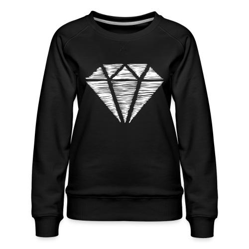 Diamante blanco - Sudadera premium para mujer