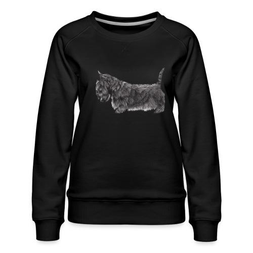 skotsk terrier ub - Dame premium sweatshirt