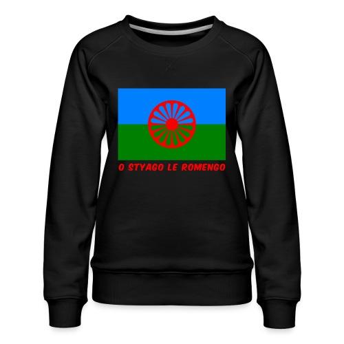 o styago le romengo flag of romani people t-shirt - Felpa premium da donna