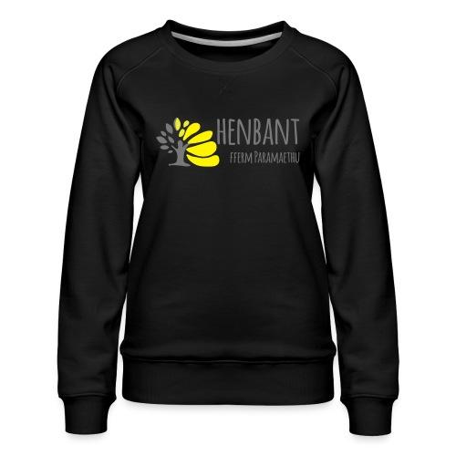 henbant logo - Women's Premium Sweatshirt