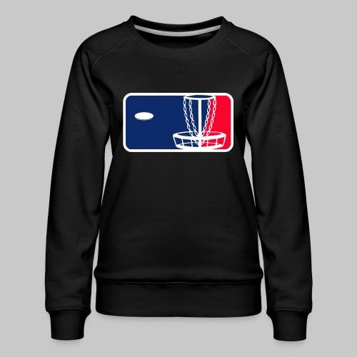 Major League Frisbeegolf - Naisten premium-collegepaita