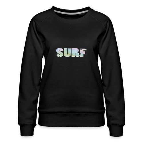 Surf summer beach T-shirt - Women's Premium Sweatshirt