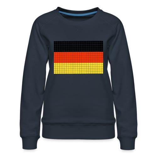 german flag.png - Felpa premium da donna